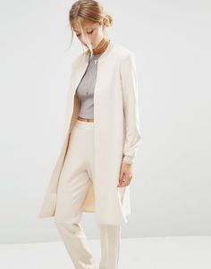 Longline bomber + Trousers for modern work outfit