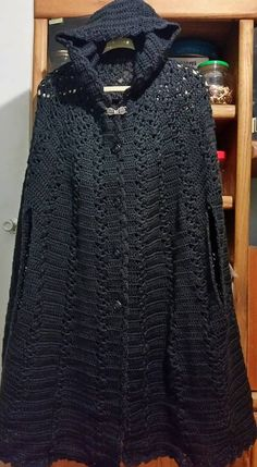 Long Hooded Crochet Cape/Cloak