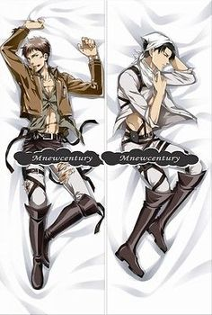 Attack on Titan M9 Levi Rivaill Dakimakura Hugging Body Pillow Cover Pillow case     THEY HAVE. Jean one omfg