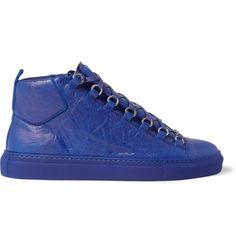 new arrival 901e4 85ef5 Arena Creased-Leather High-Top Sneakers  MR PORTER Balenciaga Arena,  Balenciaga Shoes