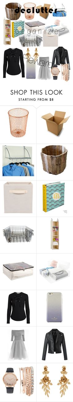 """""""Declutter"""" by lottie-gayne ❤ liked on Polyvore featuring interior, interiors, interior design, home, home decor, interior decorating, Design Ideas, Improvements, Kate Spade and Jessica Carlyle"""