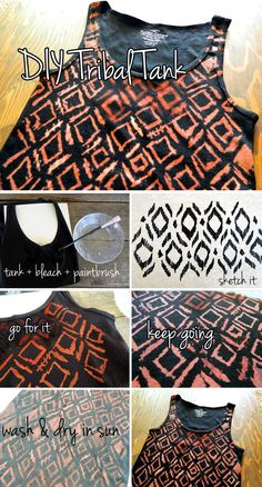Bleach Tanks (Embellishing clothes with bleach)