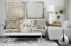 Paper Glow - Gold & Silver | Dimensional | Art by Type | Art | Z Gallerie