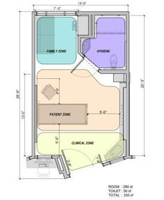 Another Practical Room Layout It Seems Like The Clinical Area Is Always Closest To The