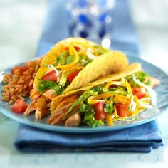 Chicken and Bean Tacos   When you need dinner in a hurry, these hearty tacos go together in next to no time.