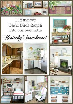 DIY-Ing Our Basic Brick House Into Our Own Kentucky Farmhouse!
