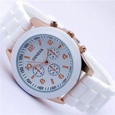 Candy-colored Quartz Silicone Watch
