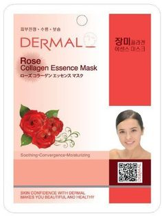 Dermal Korea Collagen Essence Full Face Facial Mask Sheet - Rose (10 Pack) by Dermal. $10.49. 2. After using, it is possible for you to go out without washing face.. 4. It includes Vitamin E and Collagen which keeps your tired skin always healthy and elastic. 3. With its Rose extracts and various mineral ingredients, it makes your skin relax, clear and moistened.. 1. You feel the difference immediately by using dermal essence mask.. SOOTHING, CONVERGENCE, MOISTURIZING.  DERM...