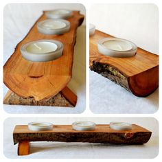 Tree Branch Rustic Ritual Altar Wooden Candle Holder