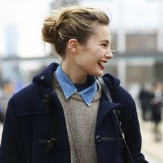 Love the button up under the sweater look. I'm a huge fan of collars lately. - Grace (2006 YoungArts Alumna in Pop Voice) #guestpinner #tomboy #style