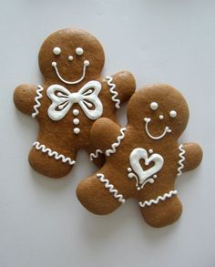 Honey gingerbread cookies decorated with icing.  From  	Žamberk, Czech Republic.  m.fler.cz