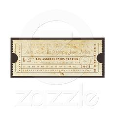 Rehearsal or Welcome Dinner - Ticket Invitation at Zazzle.ca