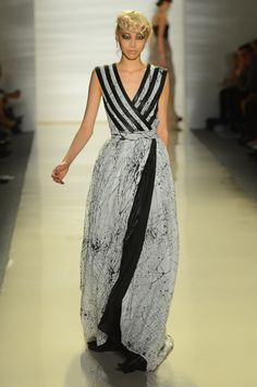 #Striped gown at EMERSON #MBFW