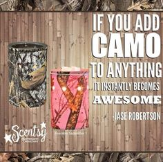 Scentsy Mossy Oak Camo warmers, available in pink. Sept 1st, 2014. http://jenniedoran.scentsy.us