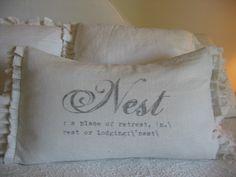 The Gabriella Nest double ruffle pillow. $34.00, via Etsy.