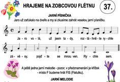 Výsledek obrázku pro zobcová flétna noty pro děti