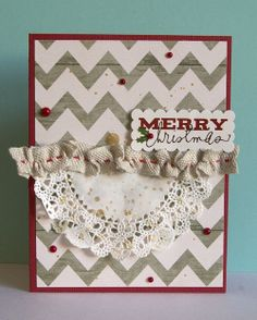 Day 9 of the 2013 Christmas Card Challenge: Merry Christmas by Ashley Harris.