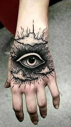 Ideas for drawing ideas creepy tattoos Tattoos 3d, Creepy Tattoos, Black Tattoos, Tattoo Drawings, Body Art Tattoos, Hand Tattoos, Cool Tattoos, Hand Eye Tattoo, Small Tattoos