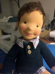 kelly--handmade natural fiber doll by Mon Petit Frère | Flickr