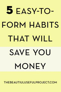 If you're new to trying to save money, it can be a big hassle. A huge pain. A downer. Here are some easy habits you can start that will help you save a little bit of cash that won't cramp your style:  Habits That Will Save You Money 1.Don't order soda at restaurants. This …