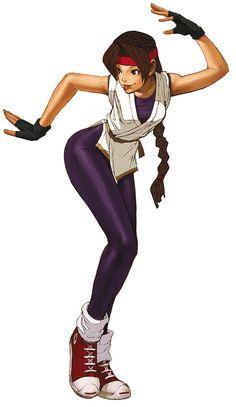 Yuri Sakazaki Art - The King of Fighters 2002 Art Gallery Video Game Characters, Female Characters, Anime Characters, Art Of Fighting, Fighting Games, Game Character Design, Character Art, Snk King Of Fighters, Female Cyborg