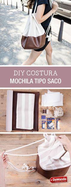 Aprende a coser una mochila tipo saco - costura DIY - tutorial paso a paso en DaWanda.es