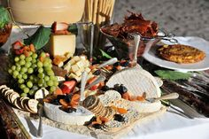 Fruit and cheese table