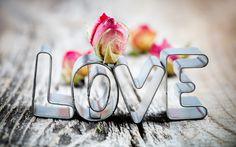 любовь, love, надпись, роза