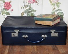 Vintage Antler Suitcase,Blue,  lovely to use for storage. Retro, shabby chic…