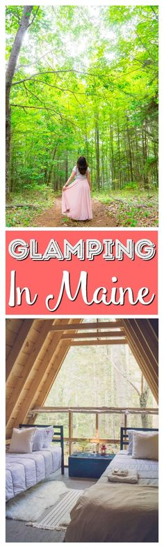 Looking for a magical Maine vacation in the woods but not too far from the coast? Head to Tops'l Farm for some Glamping in Maine! via @sugarandsoulco