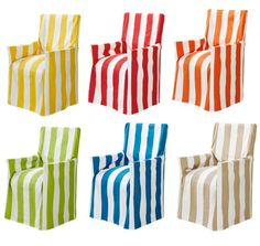 DIRECTORS CHAIR COVER New 100 Cotton Assorted Beach Stripe Outdoor Chair Slip