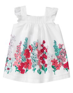 Baby Ivory Floral Floral Dress by Gymboree