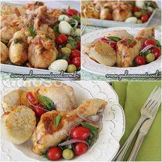 A dica para o #almoço, é esta delicia de Coxas de Frango Assadas ao Molho de Tomate! São super rápidas e fáceis de fazer!  #Receita aqui: http://www.gulosoesaudavel.com.br/2014/11/24/coxas-frango-assadas-molho-tomate/