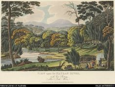 Lycett, Joseph, approximately 1775-1828. View upon the Nepean River at the Cow Pastures, New South Wales [picture]