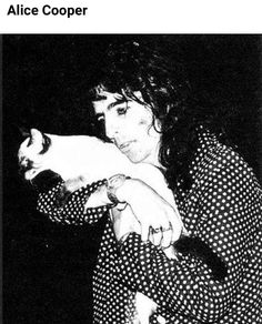 Didn't know Alice Cooper was a cat person....that's awesome
