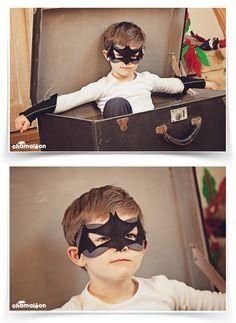 chamaleon.fr # accessoires de déguisements pour enfant, masque de super-héros, en feutrine, 100% made in France, lavable et ecosafe # photo Marine Poron #