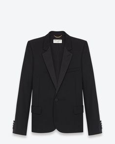 YSL Classic Wool Jacket with Satin Lapel (SALE $1599)