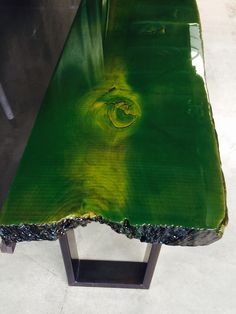 Beautiful elm tree trunk with green Corn color coating www.ccoating.nl