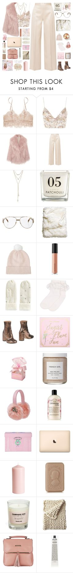 """""""girly winter style ♡"""" by my-pink-wings ❤ liked on Polyvore featuring WYLDR, Miu Miu, The Row, SUGARFIX by BaubleBar, Fendi, H&M, Topshop, Bare Escentuals, SO and Monsoon"""
