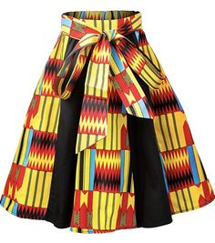 African Fashion Skirts, African Wear Dresses, African Print Fashion, Skirt Fashion, Fashion Prints, African Prints, African Outfits, African Attire, Fashion Dresses