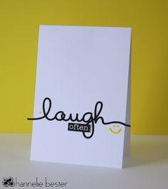 Laugh often card