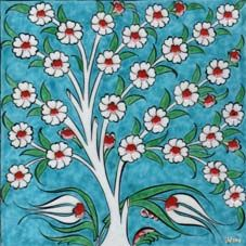 Ceramic Tiles and Panels Çini Karo ve Panolar Ceramic Tile Art, Ceramic Painting, Fabric Painting, Turkish Art, Turkish Tiles, Line Art Flowers, Flower Art, Tile Patterns, Pattern Art