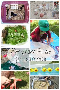 10 Simple to set up sensory play ideas for kids this summer.