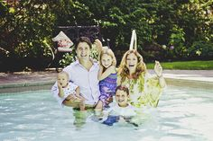 justin trudeau sophie children family pool  i love this pic!