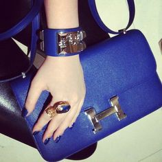 YSL ring Hermes clutch