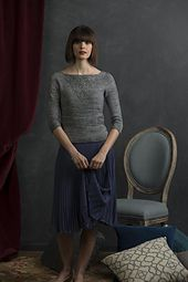"""""""… making the diamonds adjacent and altering the center stitches …forms a beautiful lace V down the center of the front and back of this lightweight pullover. Because the sleeves needed an elegant touch to match, I added a single column of lace v's—V for Victoria!"""""""