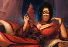 L5R - Scorpion courtier by poibuts.deviantart.com on @deviantART