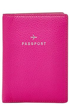 Fossil 'Gifts' Leather Passport Case