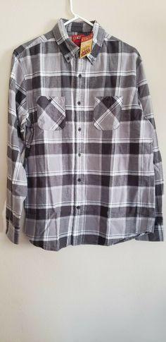 18a022ee NWT MEN'S BIG MAC MEDIUM FLANNEL JC PENNEY PLAID CASUAL SHIRT #fashion  #clothing #