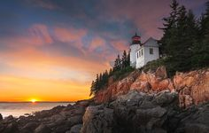 Photograph Light on the rocks by Patrick Hübscher on 500px  Bass Harbor Lighthouse, Acadia National Park, Maine. Follow me on facebook for more photos like this: www.facebook.com/PatrickHuebscher